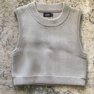 Kate Spade ♠️ Saturday Grey Knit Crop